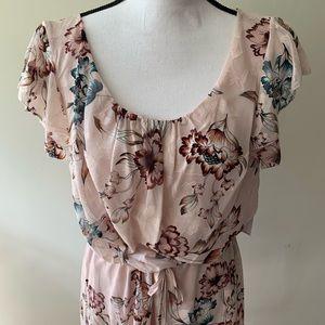 {Ralph Lauren} Floral Tie Waist Flowy Dress